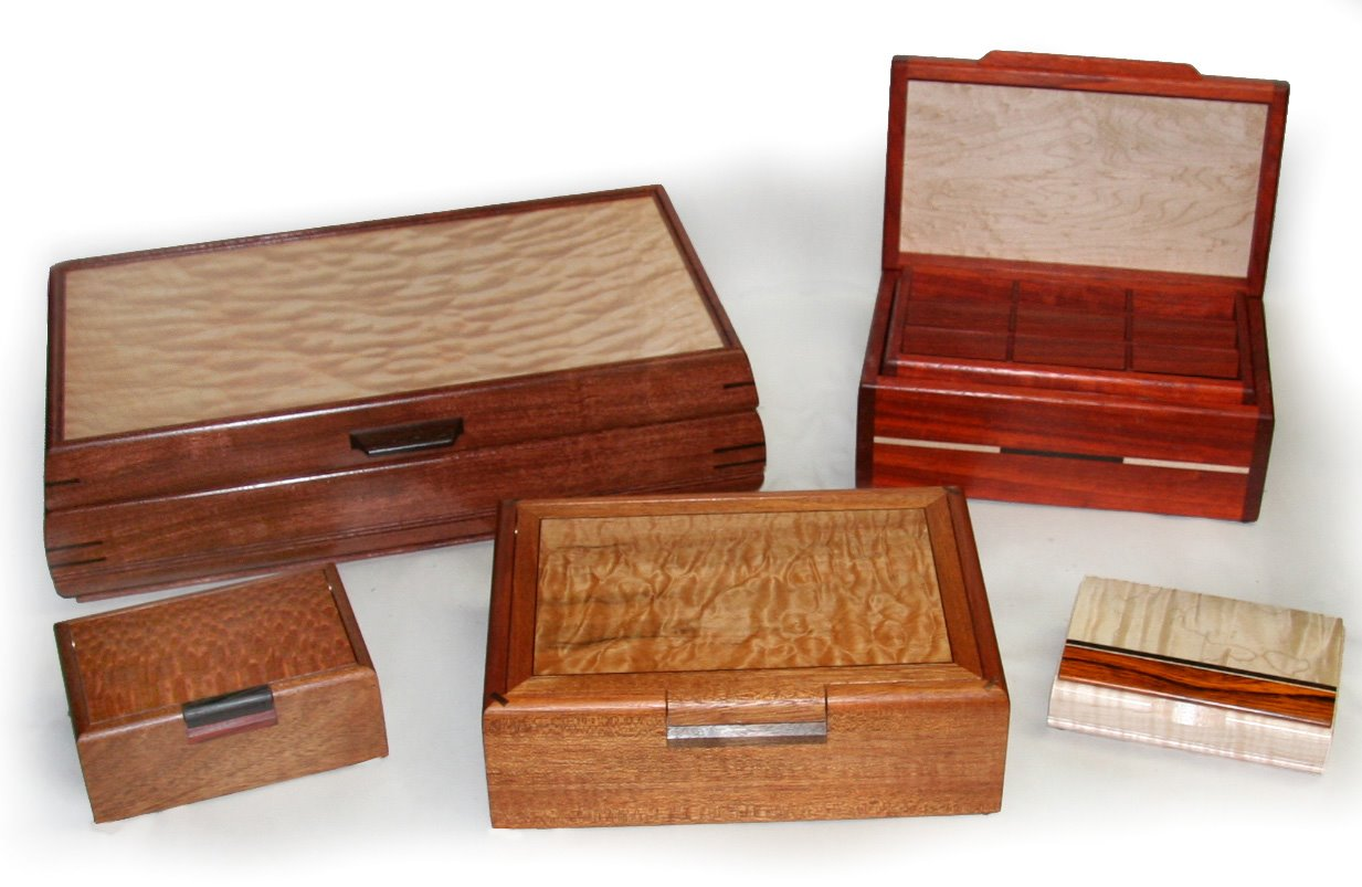 How to build exotic wood jewelry boxes pdf plans for Jewelry box made of wood